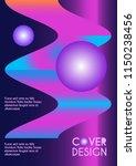 vector minimalistic cover... | Shutterstock .eps vector #1150238456
