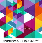 multicolored triangles abstract ... | Shutterstock .eps vector #1150239299