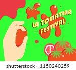 la tomatina festival | Shutterstock .eps vector #1150240259