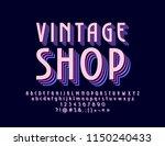 vector retro sign vintage shop. ... | Shutterstock .eps vector #1150240433