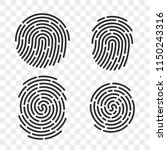 fingerprint vector logo or...