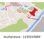 city navigation map with pins | Shutterstock .eps vector #1150243889