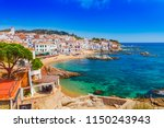 sea landscape with calella de... | Shutterstock . vector #1150243943