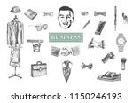 business stuff and accessories...   Shutterstock .eps vector #1150246193