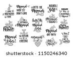 bundle of mermaid's cards.... | Shutterstock .eps vector #1150246340