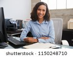 young female professional at... | Shutterstock . vector #1150248710