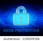 ddos protection denial of... | Shutterstock . vector #1150249106