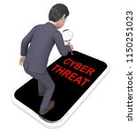 cyber threat intelligence... | Shutterstock . vector #1150251023
