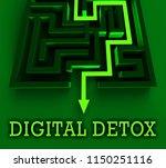 digital detox digital gadget... | Shutterstock . vector #1150251116