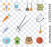 set of 13 simple editable icons ... | Shutterstock .eps vector #1150251443