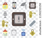 set of 13 simple editable icons ... | Shutterstock .eps vector #1150253150
