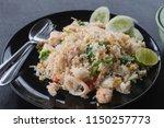asian food   sea food fried... | Shutterstock . vector #1150257773