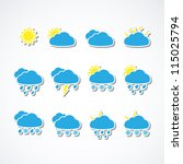 set of weather web icons.... | Shutterstock .eps vector #115025794