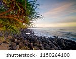 waves and surfing at burleigh... | Shutterstock . vector #1150264100