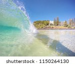 waves and surfing at burleigh... | Shutterstock . vector #1150264130