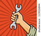 vector illustration of a fist... | Shutterstock .eps vector #115026844