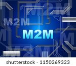m2m machine connectivity and...   Shutterstock . vector #1150269323