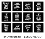 set of cards with quotes.... | Shutterstock .eps vector #1150270730