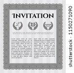 grey retro vintage invitation....   Shutterstock .eps vector #1150271090