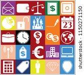 set of 25 business related... | Shutterstock .eps vector #1150271150