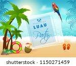 summer beach landscape... | Shutterstock .eps vector #1150271459