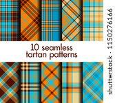set of seamless tartan pattern | Shutterstock .eps vector #1150276166