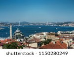 istanbul bosphorus panorama | Shutterstock . vector #1150280249