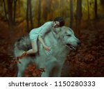 A Fragile Girl Riding A Wolf ...