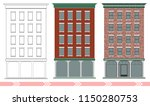 a classic american brick multi... | Shutterstock .eps vector #1150280753