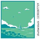 vector vintage illustration of... | Shutterstock .eps vector #1150287719
