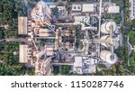 aerial top view cement plant... | Shutterstock . vector #1150287746
