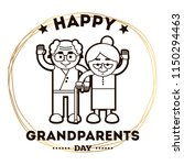 happy grandparents day.... | Shutterstock .eps vector #1150294463
