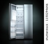 3d rendering big fridge on a... | Shutterstock . vector #1150294646