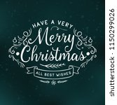 merry christmas. typography.... | Shutterstock .eps vector #1150299026