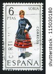 spain   circa 1970  stamp... | Shutterstock . vector #115030180