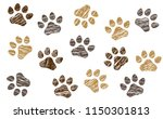animals day footsteps foot feet ... | Shutterstock .eps vector #1150301813