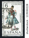 spain   circa 1968  stamp... | Shutterstock . vector #115030228