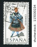 spain   circa 1970  stamp... | Shutterstock . vector #115030234