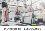 young business people meeting... | Shutterstock . vector #1150302599