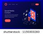 Social Media Isometric Concept. ...