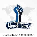 international youth day design... | Shutterstock .eps vector #1150308053