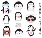 vector collection of cute... | Shutterstock .eps vector #1150309589