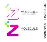 letter z with dot and curve ... | Shutterstock .eps vector #1150311233