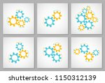 mechanical cogwheel collection... | Shutterstock .eps vector #1150312139