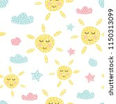 childish seamless pattern with... | Shutterstock .eps vector #1150313099