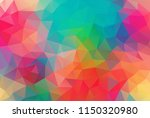 vector background from polygons ... | Shutterstock .eps vector #1150320980