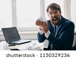 angry business man             ...   Shutterstock . vector #1150329236
