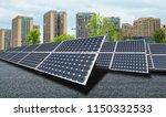 solar panel power generators... | Shutterstock . vector #1150332533
