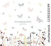 vector silhouettes collection.... | Shutterstock .eps vector #1150333199