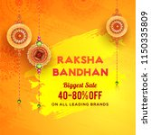 raksha bandhan biggest sale... | Shutterstock .eps vector #1150335809